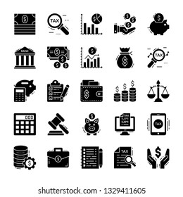 Finance And Tax Icons