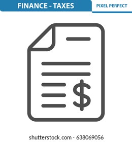 Finance - Taxes Icon. Professional, pixel perfect icons optimized for both large and small resolutions. EPS 8 format. 12x size for preview.