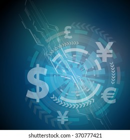 finance technology, image abstract illustration, vector