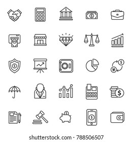 finance thin line icon