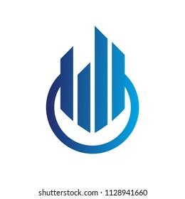 Finance vector design for logo