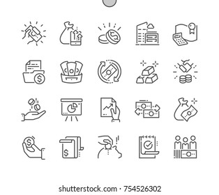 Finance Well-crafted Pixel Perfect Vector Thin Line Icons 30 2x Grid for Web Graphics and Apps. Simple Minimal Pictogram