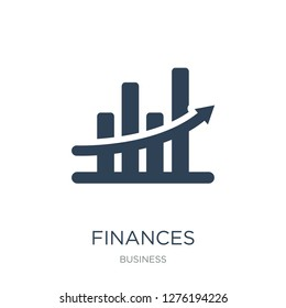 finances statistics descending bars graphic icon vector on white background, finances statistics descending bars graphic trendy filled icons from Business collection