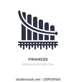 finances statistics descending bars graphic icon on white background. Simple element illustration from Business concept. finances statistics descending bars graphic icon symbol design.