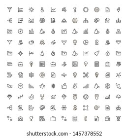 Financial administration line icon set. Collection of high quality black outline logo for web site design and mobile apps. Vector illustration on a white background