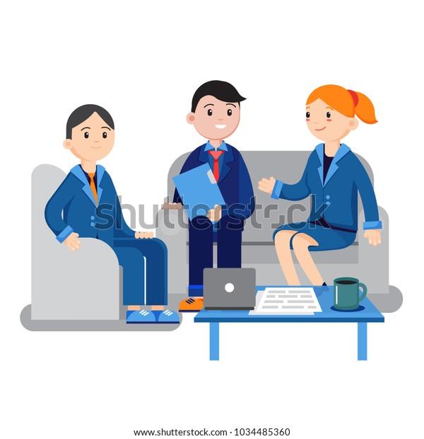 Financial Adviser Insurance Broker Estate Agent Stock ...