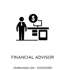 Financial Advisor icon. Financial Advisor symbol design from Professions collection. Simple element vector illustration on white background.
