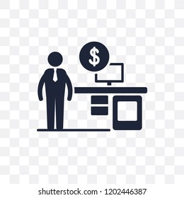 Financial Advisor transparent icon. Financial Advisor symbol design from Professions collection. Simple element vector illustration on transparent background.