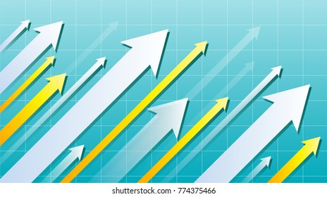 Financial Arrow Graph