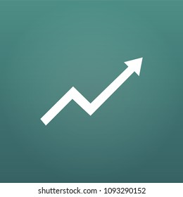 Financial Arrow Graph, aroow rise or up. vector illustration isolated on modern background.