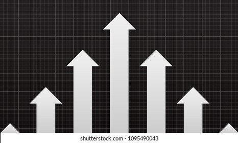 Financial Arrow graphs going up, with copy space