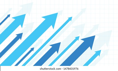 Financial Arrow Graphs on a white background