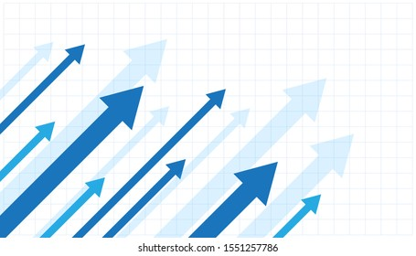 Financial Arrow Graphs on a white background. vector illustration