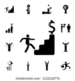 financial ascent icon. Detailed set of Sucsess and awards icons. Premium quality graphic design sign. One of the collection icons for websites, web design, mobile app on white background