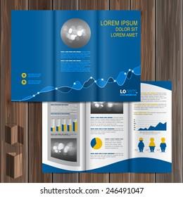 vector blue brochure template design cogwheel stock vector royalty