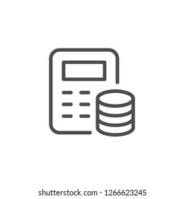 Financial calculation line icon