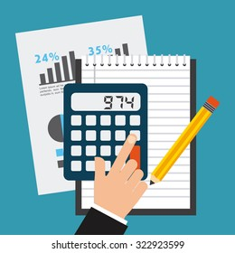 financial calculations design, vector illustration eps10 graphic