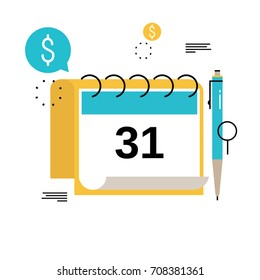 financial calendar financial planning monthly budget stock vector