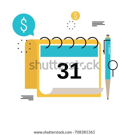 financial calendar financial planning monthly budget stock vector