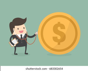 Financial Check Up. Business Concept Illustration.