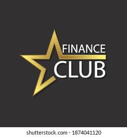 Financial club star logo, vector art illustration.
