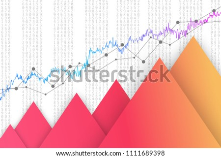Financial Data Graph Chart Vector Illustration Stock Vector Royalty