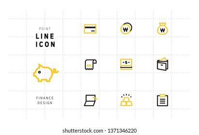 Financial design icons