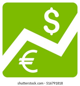 Financial Diagram vector icon. Flat eco green symbol. Pictogram is isolated on a white background. Designed for web and software interfaces.