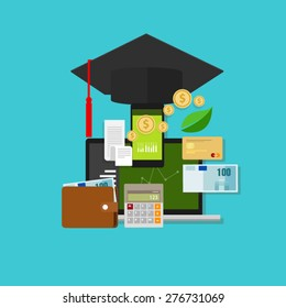 financial education cost money college