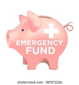 Financial Emergency Fund Piggy Bank to Protect from Home, House, Car or Vehicle Damage, Job Loss or Unemployment, and Hospital or Medical Bills