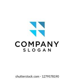 financial graphic logo vector