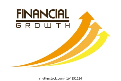 financial growth over white background vector illustration