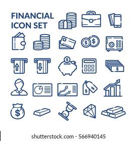 Financial icon set. Vector