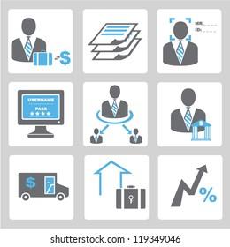 financial icon set,banking business icon set