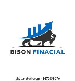financial industry bison logo design