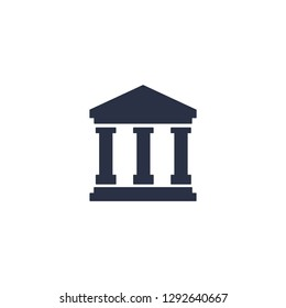 Financial institution, bank. Vector icon on white background.