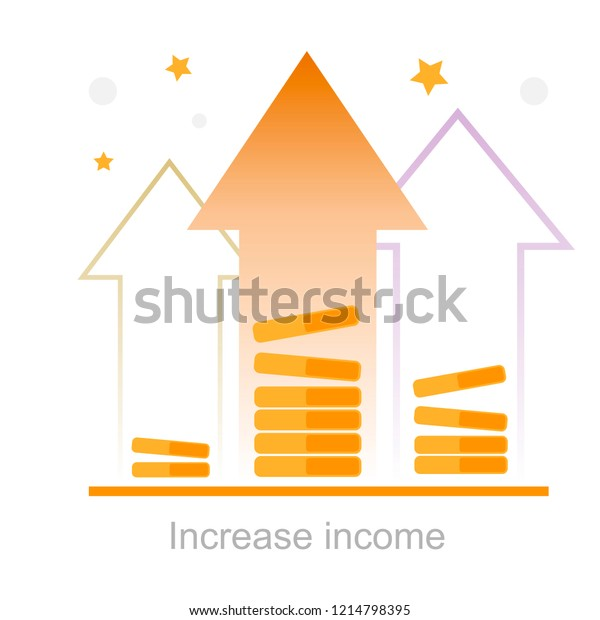How To Plan Finances To Raise Special >> Financial Invest Fund Boost Revenue Increase Stock Vector Royalty
