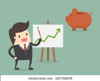 Financial Investment Forecasting. Business Concept Illustration.