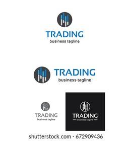 financial logo. Global trade analysis logo, trading logo, finance logo, growing graph vector illustration.