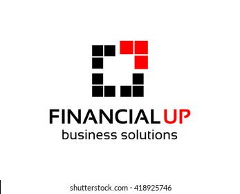 Financial Up Logo Template. Abstract Vector Logotype for Your business projects.