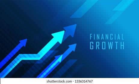 Concept graphique Financial Management adapté à l'investissement financier ou page Web Economique, bannière, présentation, illustration Vectorielle