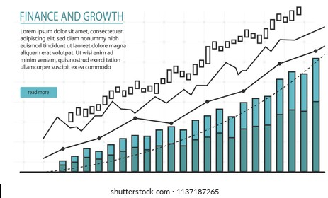 Financial Management graphic in design of vector doodles concept suitable for financial investment or Economic webpage, infographic element, banner, presentation, Vector illustration
