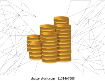 financial network concept. business concept. illustration over a white background