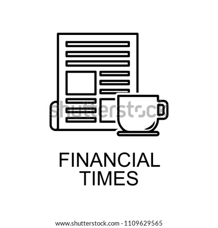 Financial Newspaper Outline Icon Element Of Finance For Mobile Concept And Web Apps