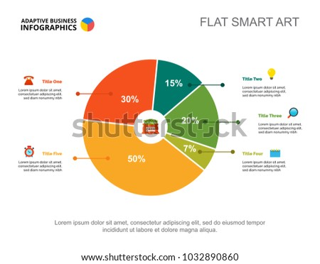 financial pie chart slide template stock vector royalty free