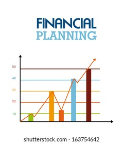financial planning illustration over white  background. vector illustration