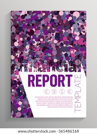 financial report cover layout template books stock vector royalty