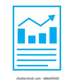financial report or income statement icon on white background. financial report or income statement sign.