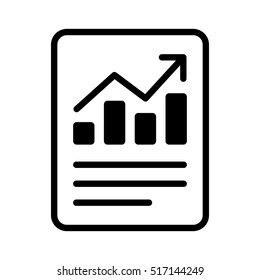 Financial report or income statement line art vector icon for apps and websites