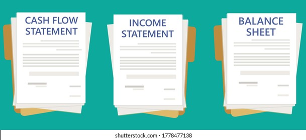 Financial Reports Thumbnail Cash Flow Statement Income Statement Balance Sheet